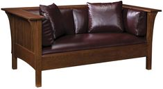 Spindle Loveseat - Mission Furniture - Stickley Furniture - Arts & Crafts Style - Craftsman Style - Knoxville Furniture - Braden's Lifestyles Furniture - Made In America - Solid Wood Furniture