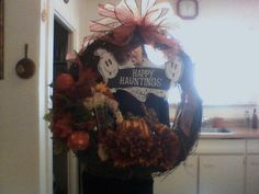 Halloween Wreath everything wired in $45.00 shipping and handling not included