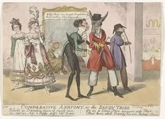 Caricature History: Comparative Anatomy of the Dandy Tribe » Isaac Robert Cruikshank (like his more famous brother George) is t ...