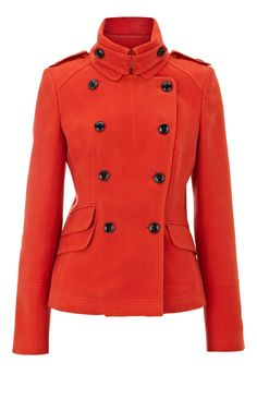 50fbbb1f1a3 Karen Millen Modern Military Moleskin Jacket Red - for j Cheap Designer  Shoes, Cheap Designer