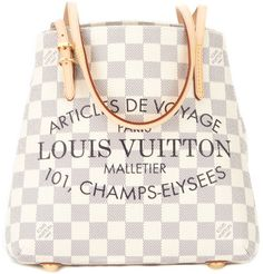 Louis Vuitton Damier Azur 101 Champs-Elysees Cabas PM Tote (Authentic Pre Owned)