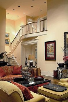 """Beautiful Staircase.... Although it kinda reminds me of paranormal activity- the one that """"goes back to the beggining"""""""