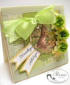 Oli małe fantazje ;): Zielona Wielkanoc z króliczkiem
