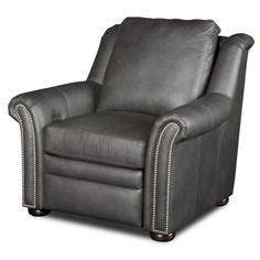 stylish and modern recliner nailheads google search - Black Leather Recliner Chair