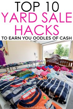 10 Yard Sale Tips That'll Clear Your Clutter Fast (With Free Printable Checklist) Garage sales are a great way to declutter and earn a little extra cash. Garage Sale Signs, Yard Sale Signs, Garage Sale Pricing, For Sale Sign, Garage Sale Organization, Organizing Ideas, Sell Your Stuff, Things To Sell, Things For Sale