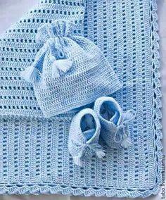 Modern Crochet Blanket, Crochet Baby Blanket Free Pattern, Baby Afghan Crochet, Crochet Stitches Patterns, Baby Knitting Patterns, Mode Crochet, Baby Shawl, Handmade Baby Blankets, Baby Boy Knitting