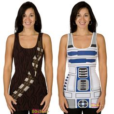 Put On a Tank Top And Become R2-D2 Or Chewbacca