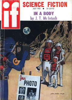 scificovers:  Ifvol 10 no 3 July 1960. Cover art by John Pederson Jr titledTourists in Space.