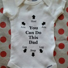 Dad You Got This Funny Baby Dad Onesie Gender Neutral Baby Clothes Pregnancy Announcement Baby Onesie Dad to be Baby Shower Gift Dad dragons Gender Neutral Baby Clothes, Baby Gender, Best Baby Bibs, Dad Onesie, Custom Money Clips, Funny Outfits, Baby Alive, New Dads