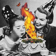 Come On Darling, Make Their Wish. Collage by Eugenia Loli Art Du Collage, Surreal Collage, Collage Design, Collage Artists, Digital Collage, Design Art, Collages, Eugenia Loli, Funky Art