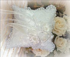 Romantic Victorian Home Collection: Bridal....Ring Pillow