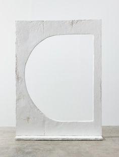 Carolyn Salas . Cut Out No. 1   Hydrocal, fiberglass, steel armature, 98 x 72 x 15 1/2 in