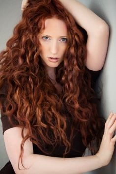 .curly red hair