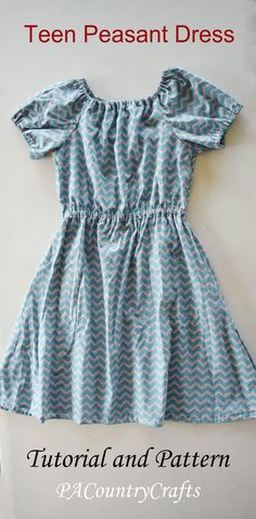 PACountryCrafts: Teen Peasant Dress Pattern and Tutorial