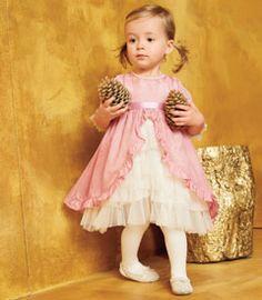 infants pink vintage fairy-tale dress - Chasing Fireflies