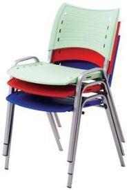 Cadeira Secretária Fixa iso - base cinza CE04A