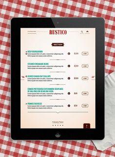 Ipad Menu app - Nahuel Corbellini  www.nahuelcorbellini.com/Ipad-Menu-app Ipad Ios, Digital Signage, App Ui, App Design, Digital Marketing, Menu, Restaurant, Inspiration, Ideas