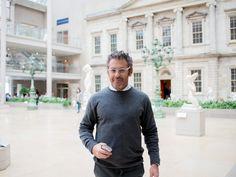 Tom Sachs at the Met looking at Shaker design