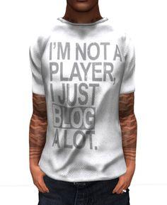 .:Gazump:. Blog Player White Mesh Male T-Shirt V2