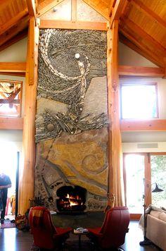 Arnold Masonry and Landscape, Atlanta, GA. Founded in 1985 - Atlanta, GA 's award winning brick and stone masonry hardscape, landscape. Stone Masonry, Brick And Stone, Stone Art, Stone Walls, Mosaic Fireplace, Fireplace Design, Fireplace Stone, Stove Fireplace, Vancouver