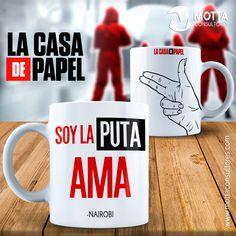 #soyLaPutaAma PLANTILLAS PARA TAZAS DE CASA DE PAPEL #mottaplantillas