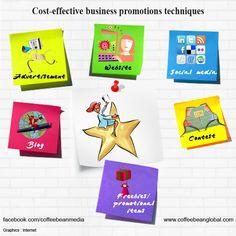 Cost effective business promotions techniques.