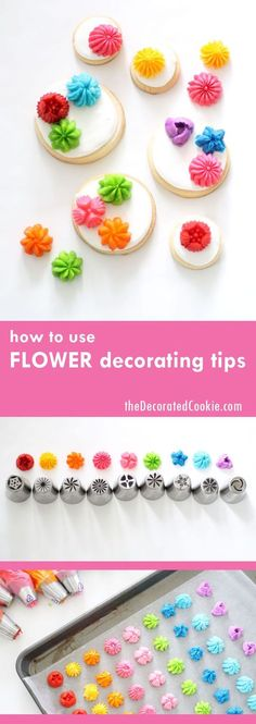 how to use flower decorating tips for cakes, cookies or cupcakes