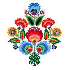 trendy Ideas for folk art tattoo tatoo Polish Embroidery, Folk Embroidery, Folk Art Flowers, Flower Art, Mundo Hippie, Bordado Popular, Polish Tattoos, Polish Folk Art, Kunst Tattoos