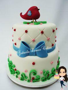 Bolos de Pasta Americana - Cake Fondant - Gabriela Lemos Cakes: Bolo Jardim Provençal