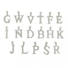 Bling Jewelry Times Roman Block CZ Alphabet N Pendant