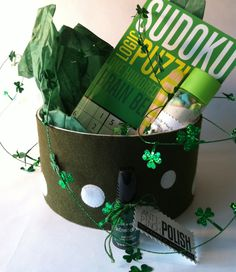 Care Package Decorating Ideas | care package for St. Patrick's Day.