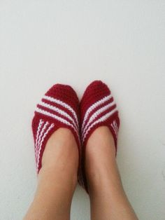 Claret red Healthy Booties Home slippers Dance by NesrinArt
