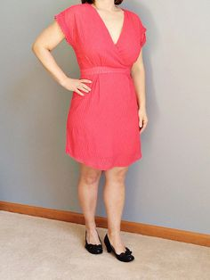 Stitch Fix Dress. Like the wrap top but would need to wear a cami