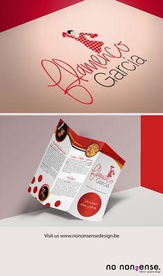 Logo en huisstijlontwerp voor dansschool Flamenco Garcia. #branddesign #logo #folder #grafischontwerp #graphicdesign