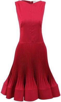 Sleeveless Dress with Plisse Skirt