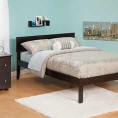 Urban Lifestyle Orlando Platform Bed - Sleep in style with the modern design of the Urban Lifestyle Orlando Bed . Made of durable, eco-friendly engineered wood, this bed offers a versatile...