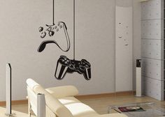 Game On  - Wall Decal Vinyl Decor Art Sticker Removable Mural Modern Xbox Ps3 Games Kids Video. $69.99, via Etsy. ~ Sleek n leet.