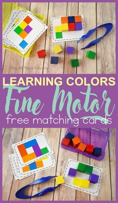 5 Activities for Teaching Colors to Preschoolers with Free Task Cards
