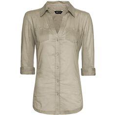 MANGO Shirt ($40) ❤ liked on Polyvore