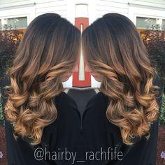 deep colormelt balayage ombre. Caramel blonde hair. hair by Rachel Fife @ SF Salon