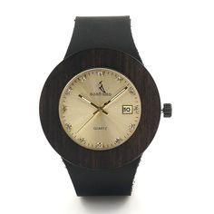 BOBO BIRD C03 Men Women Wooden Wristwatch Round Wooden Case Diamond Dail Auto Date Watch dames horloges - Online Shopping for Watches
