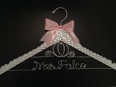 Personalized Bridal / Wedding Hanger - Make a statement in your wedding photos with this beautiful rhinestone crystal and pearl covered bridal hanger!