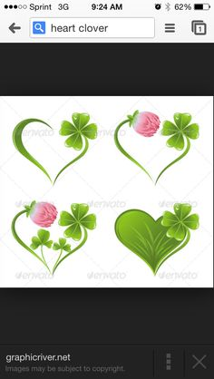 My next tat heart wrapped in clovers