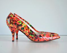 18316dfd6a 1950s High Heel Pumps With Confetti Pattern. Label: DeLiso Debs //  Nordstrom Shoes