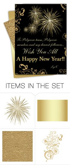 """""""Wish You All A Happy and Prosperous New Year!!!"""" by cly88 ❤ liked on Polyvore featuring art, party, newyear and artexpression"""