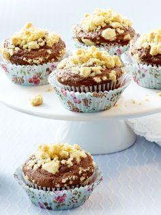 Pralinen-Muffins mit Vanillestreuseln