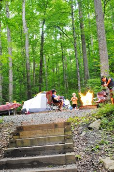 Cosby Campground in Great Smoky Mountains National Park, Tennessee is a peaceful camping spot for quality family time in the great outdoors.