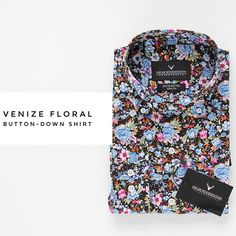 Stand out from the crowd! Explore our Venize floral shirt, build from a button-down collar and comes in a slim fit 👔👆🏽 www.Oscarwoodington.com  Free shipping on all orders 🌍