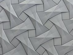 Azulejo tridimensional de fibrocemento QUADILIC - KAZA Concrete
