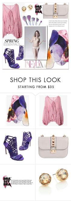 """""""Love colors with Brassybra"""" by sena87 ❤ liked on Polyvore featuring Christopher Kane, Brian Atwood, Valentino and ABS by Allen Schwartz"""
